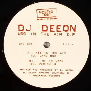 "DJ Deeon ‎– Ass In The Air E.P. - VG+ 12"" Single Record 2004 Ghetto Test USA Vinyl - Chicago Acid House / Techno"