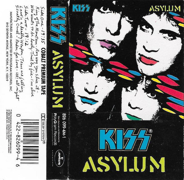 Kiss - Asylum - VG+ 1985 USA Cassette Tape - Rock/Metal