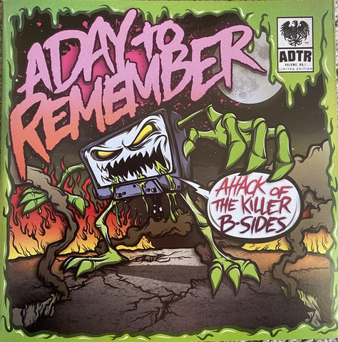 "A Day To Remember ‎– Attack Of The Killer B-Sides (2010) - New 7"" Single Record 2013 Victory USA Black Vinyl & Download - Metalcore / Pop Punk"