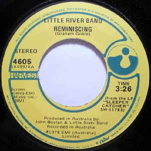 "Little River Band- Reminiscing / So Many Paths- VG+ 7"" Single 45RPM- 1978 Capitol Records USA- Rock"