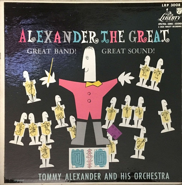 Tommy Alexander And His Orchestra ‎– Alexander The Great - VG+ Lp Record 1956 USA Original Vinyl - Jazz