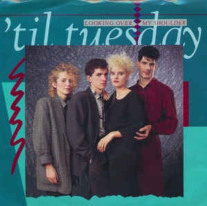 "'Til Tuesday ‎– Looking Over My Shoulder - Mint- 7"" Single PROMO 45RPM 1985 Epic USA - Synth-Pop"