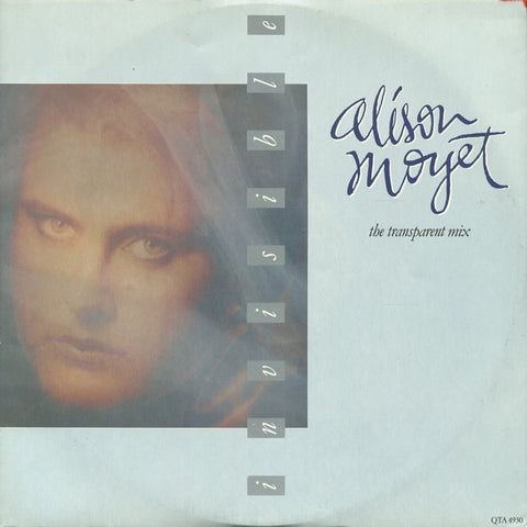 "Alison Moyet ‎– Invisible (The Transparent Mix) - Mint- 12"" Single Record 1984 CBS UK Import Vinyl - Synth-Pop"