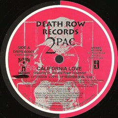 "2Pac - California Love VG+ - 12"" Single 1995 Death Row USA - Hip Hop"