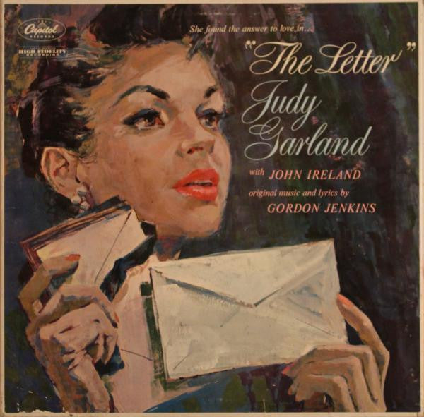 Judy Garland With John Ireland - The Letter - VG 1959 Mono USA (Original Press With Letter) - Pop