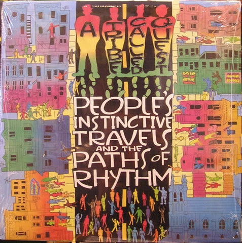 A Tribe Called Quest ‎– People's Instinctive Travels And The Paths Of Rhythm (1990) - VG+ 2 Lp Record 1996 Jive USA Vinyl - Hip Hop