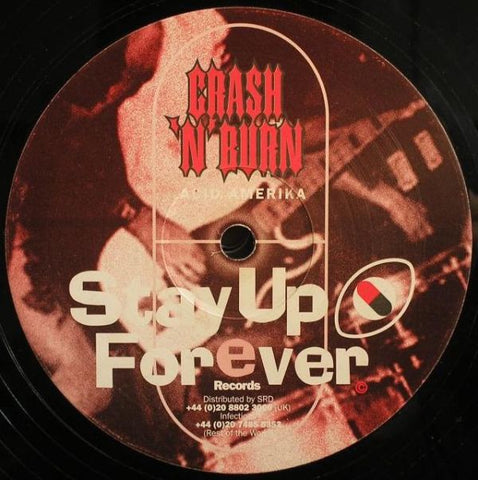 "Crash 'N' Burn ‎– Acid Amerika / Return Of The Son Of Santa Pod - VG+ 12"" Single Record 2001 Stay Up Forever UK Import Vinyl - Techno / Acid"