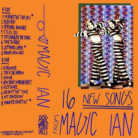 Magic Ian - 16 New Songs - New Cassette 2018 Dog World Limited Edition Orange Tape - Indie Rock / Local