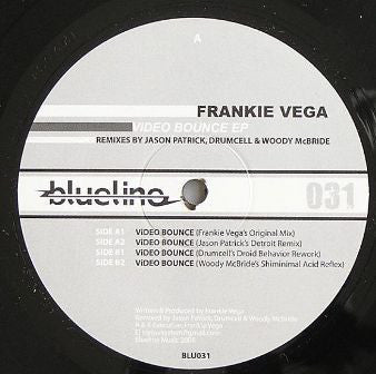 "Frankie Vega ‎– Video Bounce EP - Mint 12"" Single Record 2008 Blueline Music USA Vinyl - Chicago Techno / Acid / Tech House"