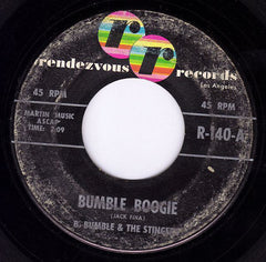 "B. Bumble & The Stingers - Bumble Boogie / School Day Blues VG - 7"" Single 45RPM 1961 Rendezvous USA - Pop"