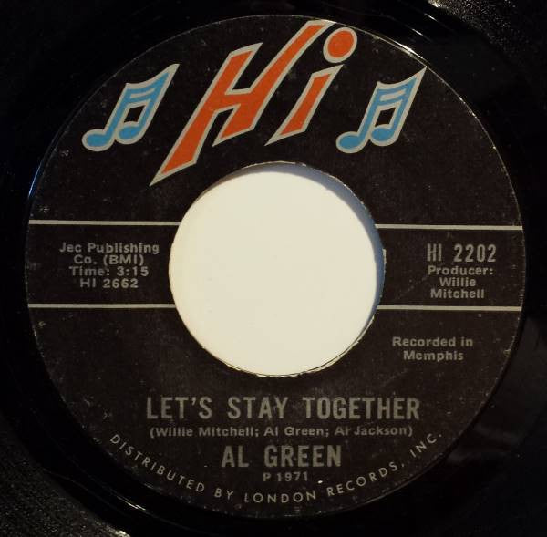 Al Green – Let's Stay Together / Tomorrow's Dream VG - 7
