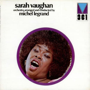 Sarah Vaughan and Michel Legrand ‎– Orchestra Arranged And Conducted By Michel Legrand - Mint- Lp Record 1972 USA Original Vinyl - Jazz / Vocal