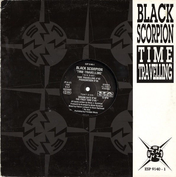 "Black Scorpion - Time Travelling - VG+ 12"" Single Netherlands Import 2003 - Acid Techno"