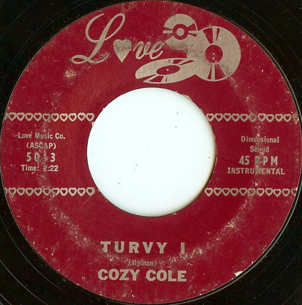 "Cozy Cole - Turvy VG - 7"" Single 45RPM 1958 Love USA - Jazz"