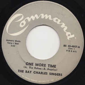"The Ray Charles Singers- One MoreTIme / Bluesette- VG+ 7"" Single 45RPM-"