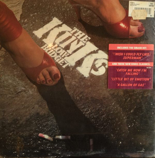 The Kinks ‎– Low Budget - VG+ Lp Record 1979 Arista USA No Tracklist Sleeve Vinyl - Rock / Pop