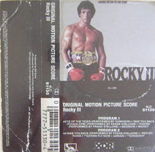 Bill Conti - Rocky III - Original Motion Picture Score - VG+ 1982 USA Cassette Tape - Soundtrack