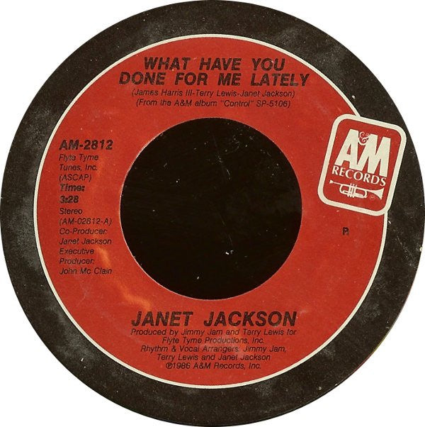 "Janet Jackson- What Have You Done For Me Lately / He Doesn't Even Know I'm Alive- M- 7"" Single 45RPM- 1986 A&M Records USA- Electronic/Synth-Pop"