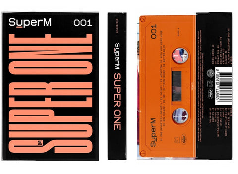 SuperM - Super One - New Cassette Album 2020 S.M. Entertainment USA Orange Tape - K-Pop / Hip Hop / Pop