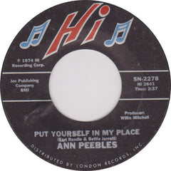 "Ann Peebles ‎– Put Yourself In My Place / Until You Came Into My Life VG 7"" Single 45RPM 1974 Hi USA - Funk / Soul"