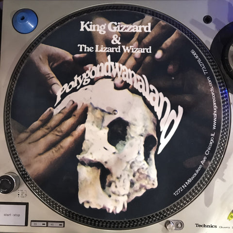Shuga Records 2018 Limited Edition Vinyl Record Slipmat King Gizzard And The Lizard Wizard Polygondwanaland GLOW IN THE DARK