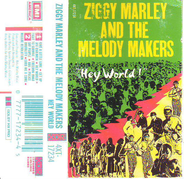 Ziggy Marley & The Melody Makers - Hey World - VG+ 1986 USA Cassette Tape - Reggae