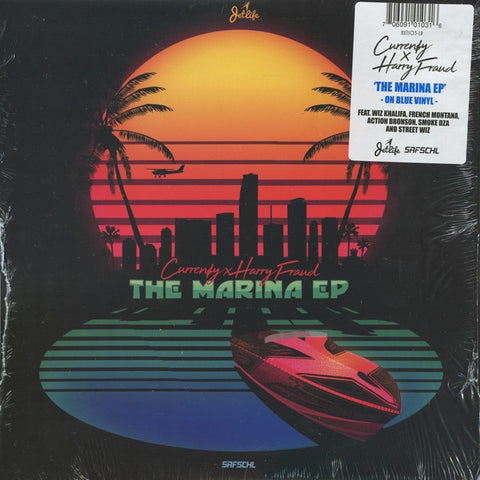"Curren$y x Harry Fraud ‎– The Marina EP - New 12"" EP Record 2018 Next US Blue Vinyl - Hip Hop"