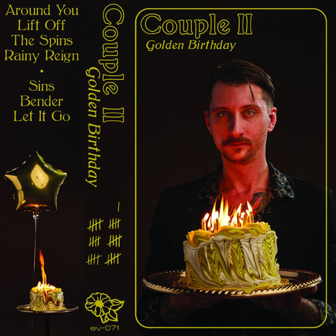 Couple II - Golden Birthday - New Cassette 2019 Eye Vybe Limited Edition Brown Tape - Electronic / Synthpop / Local