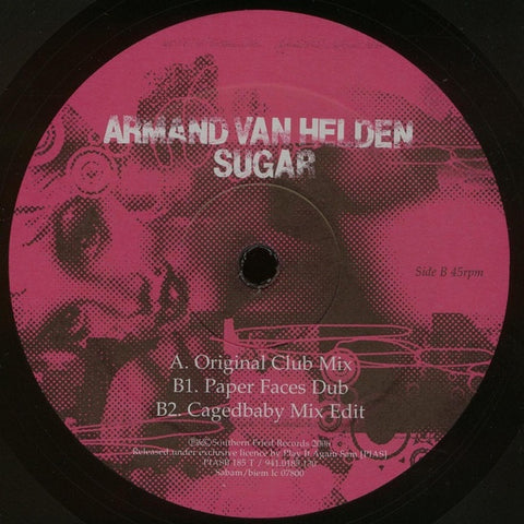 "Armand Van Helden ‎– Sugar - VG+ 12"" Single 45rpm 2006 Play It Again Sam Belgium - House"