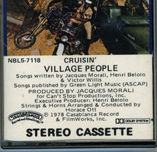 Village People ‎– Cruisin' - Used Cassette 1978 Casablanca - Disco
