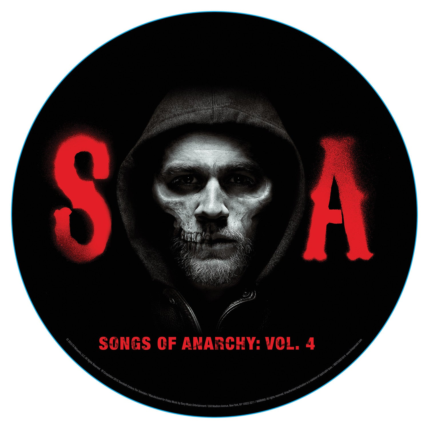 Soundtrack - Sons of Anarchy / Songs of Anarchy Vol 4 (Season 7) - New Vinyl Record 2015 Record Store Day Black Friday Limited Edition 2-LP Picture Disc in Clear Gatefold Cover - 1500 Copies!
