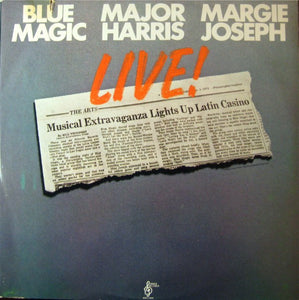 Blue Magic / Major Harris / Margie Joseph - Live! - VG 1976 Stereo 2 Lp Set USA - Funk