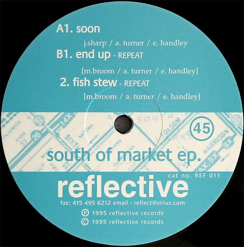 Various ‎– South Of Market EP. - New Ep Record 1995 Reflective UK Import Vinyl - Electronic / Techno / IDM