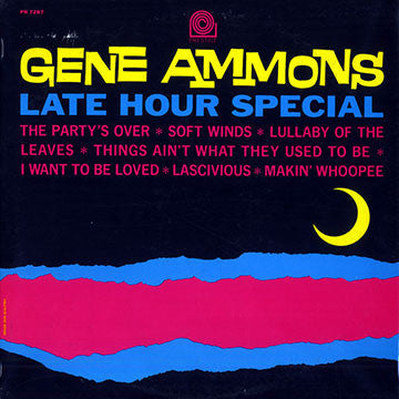 Gene Ammons ‎– Late Hour Special - VG+  (Poor Cover) 1964 Mono USA Original Press - Jazz