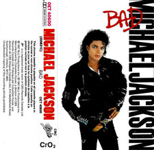 Michael Jackson - Bad VG+ - 1987 Epic USA Cassette - Disco/Pop