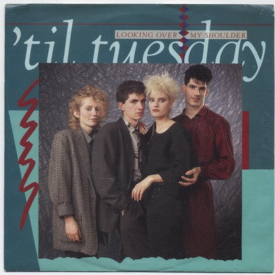 'Til Tuesday ‎– Looking Over My Shoulder / Don't Watch Me Bleed - Mint- 45rpm 1985 USA - Synth-Pop