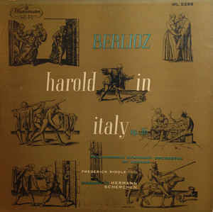 Frederick Riddle / Hermann Scherchen & Philharmonic Symphony Orchestra Of London - Berlioz Harold In Italy, Op. 16 - VG 1954 USA Mono Original Press Record - Classical
