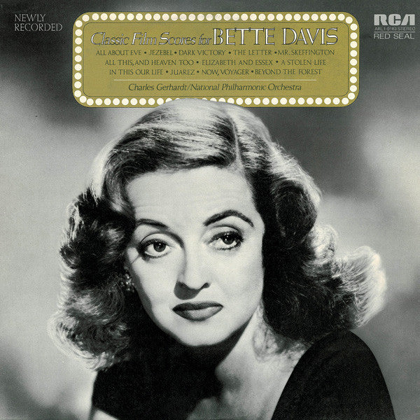 Charles Gerhardt & The National Philharmonic Orchestra ‎– Classic Film Scores For Bette Davis - VG+ Lp Record 1973 USA Vinyl - Soundtrack / Film Score