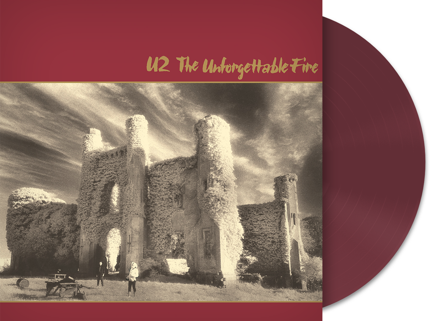 U2 - The Unforgettable Fire - New 2019 Record LP Sunrise Records Exclusive  Red Wine Colored Vinyl Europe Import - Rock