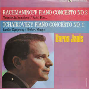 Byron Janis & Antal Dorati & Herbert Menges - Tchaikovsky/Rachmaninoff - Piano Concerto No. 2 / Piano Concerto No. 1 - VG+ 1966 Stereo USA - Classical