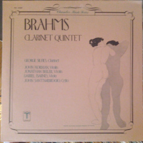 Brahms - Clarinet Quintet - M- LP Record 1979 Turnabout US - Classical