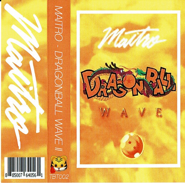 Maitro ‎– Dragonball Wave II - New Cassette 2017 Tiger Blood Tapes Canada Colored Tape - Vaporwave