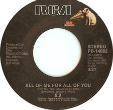 9.9 ‎– All Of Me For All Of You / Little Bitty Woman - Mint- 45rpm 1985 RCA Records - Funk / Soul / Disco
