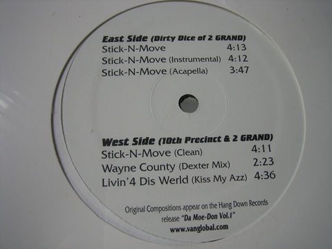 "2 Grand ‎– Stick-N-Move - Mint- 12"" Single Record 1984 USA Original Vinyl - Hip Hop"