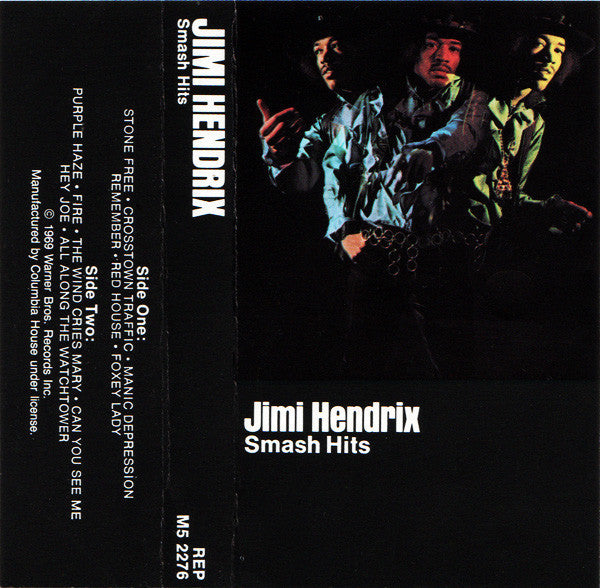 Jimi Hendrix - Smash Hits - VG+ 1969 Cassette Tape (Club Edition 1970's Reissue) - Psychedelic Rock