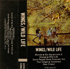 Wings - Wild Life VG+ - 1971 Apple USA Cassette - Rock
