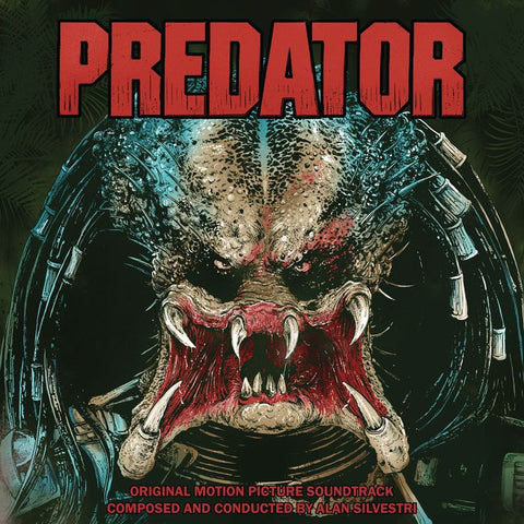 Alan Silvestri - Predator (Original Motion Picture Soundtrack) - New Vinyl 2 Lp 2018 Real Gone Limited Edition Reissue on 'Blood Red & Predator Dreads Blue Splatter' Vinyl with Gatefold Jacket (Limited to 900!) - 80's Soundtrack