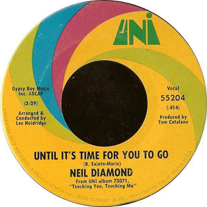 Image result for until it's time for me to go neil diamond single images