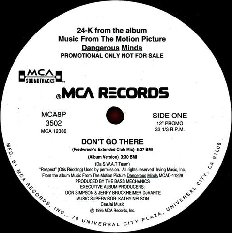 "24-K ‎- Don't Go There - VG+ 12"" Single Promo 1995 USA - Rap / Hip Hop"