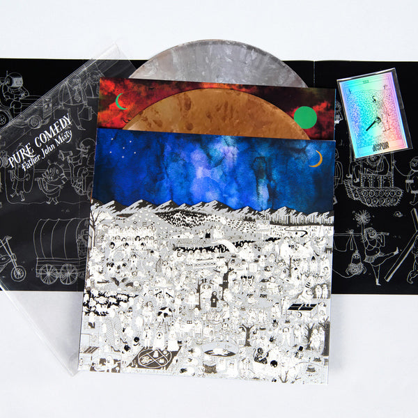 Father John Misty - Pure Comedy - New Vinyl 2017 Sub Pop Records Deluxe Limited Edition 2-LP Copper / Aluminum Vinyl w/ Di-Cut Cover, Slipcase, Holographic Tarot Card + More - Indie Folk / Indie Pop